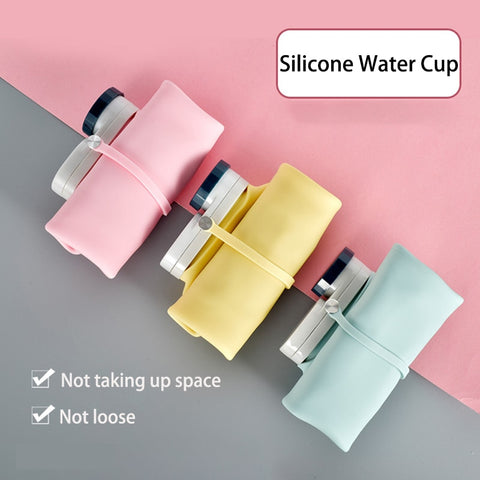 Folding Silicone Portable Water Bottles