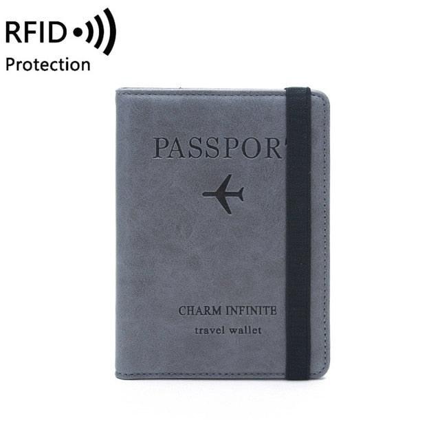 RFID Vintage Passport Holders