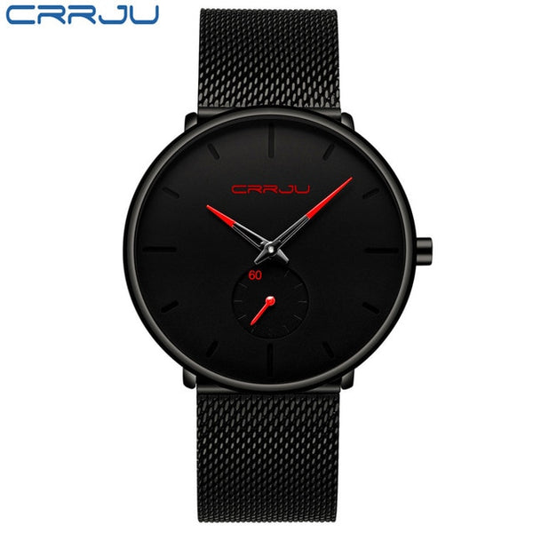 Quartz Slim Mesh Steel Waterproof Sport Watch
