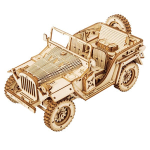 3D Wooden Puzzle for Adults Mechanical Car Model Building Kits