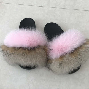 wholesale factory price fur slides  for girl