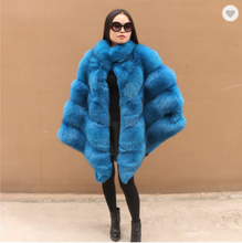 Load image into Gallery viewer, fox fur Poncho