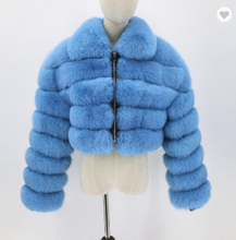 Load image into Gallery viewer, fox fur jacket