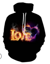 Load image into Gallery viewer, FT322 Creative art flame fist pattern printed sweater