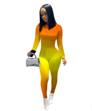 Load image into Gallery viewer, FT335 Gradient print jumpsuit