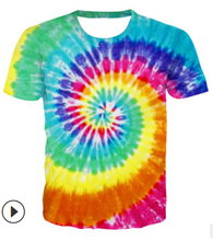 Load image into Gallery viewer, FT326 Personalized tie-dye casual men's short sleeves