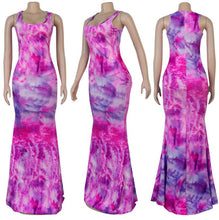 Load image into Gallery viewer, ft-235  tyedye long style dress
