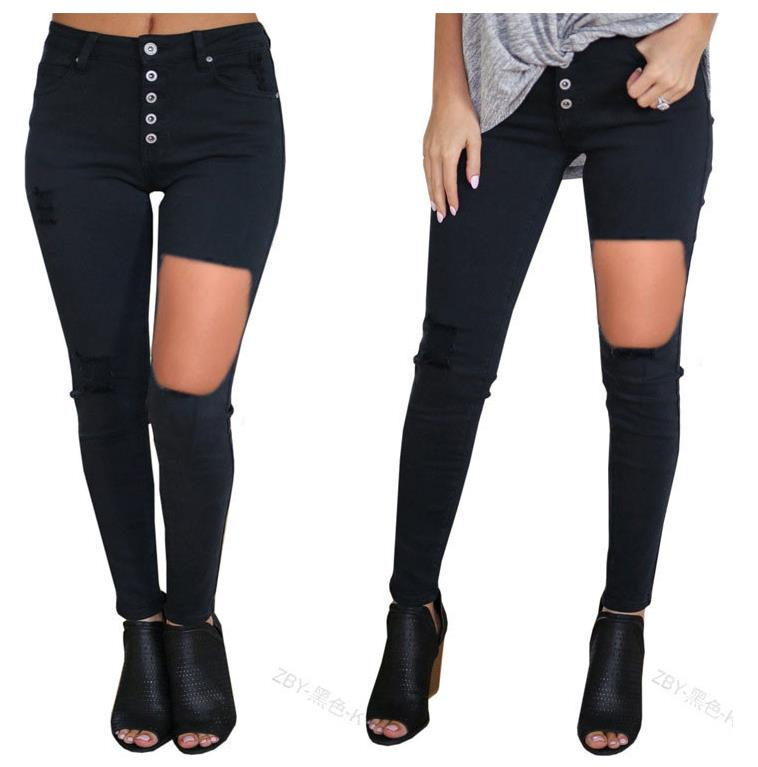 ja-019 jeans black color