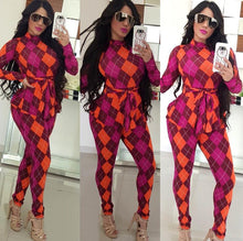 Load image into Gallery viewer, ft294 Casual plaid jumpsuit