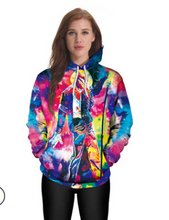 Load image into Gallery viewer, FT320 Printed hooded plus size sweatshirt