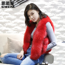 Load image into Gallery viewer, fox fur vest