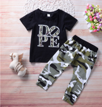 Load image into Gallery viewer, FT321  Boys' casual camouflage pants suit