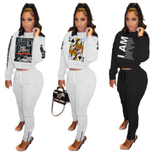 Load image into Gallery viewer, FT340 ym Two-piece printed fashion sweater