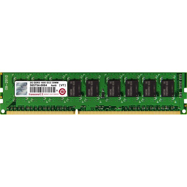 Transcend DDR3 240Pin Long-DIMM DDR3-1600 ECC Unbuffer Memory