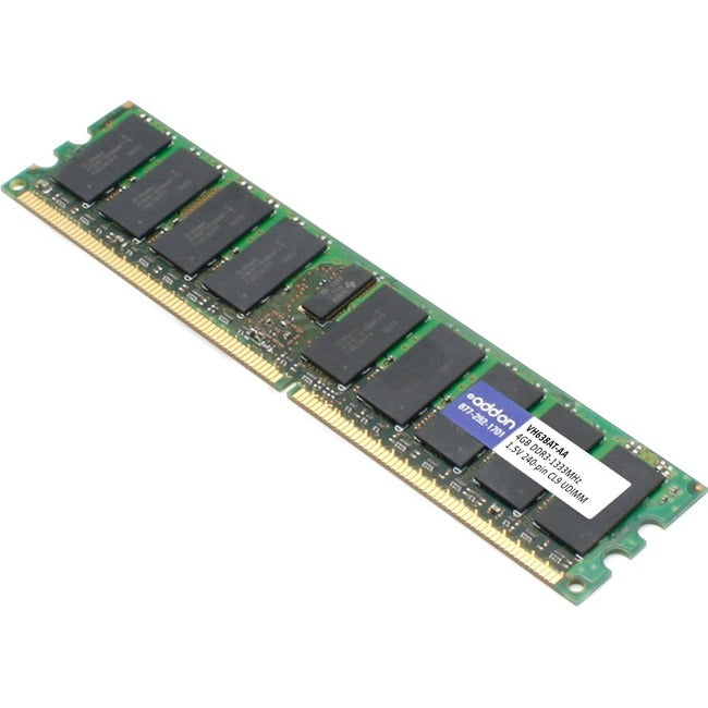 AddOn AA1333D3N9-4G x1 HP VH638AT Compatible 4GB DDR3-1333MHz Unbuffered Dual Rank X8 1.5V 240-pin CL9 UDIMM