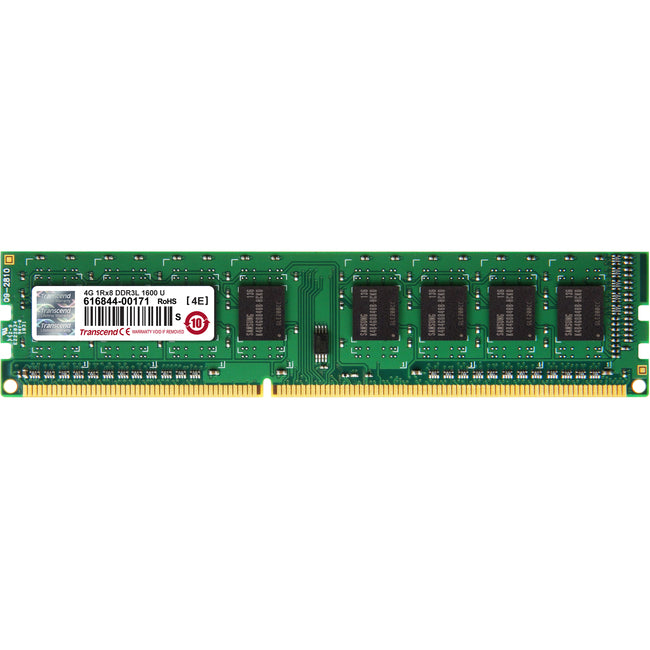 Transcend DDR3L 1600 LONG-DIMM 4GB CL11 1Rx8 1.35V