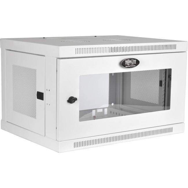 Tripp Lite 6U Wall Mount Rack Enclosure Server Cabinet White w- Acrylic Glass Door