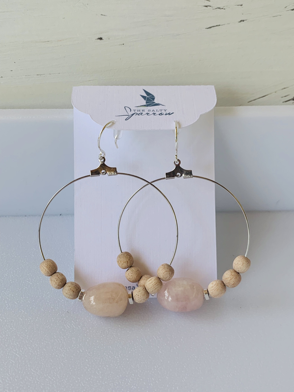 Rose Quartz Diffuser Earrings