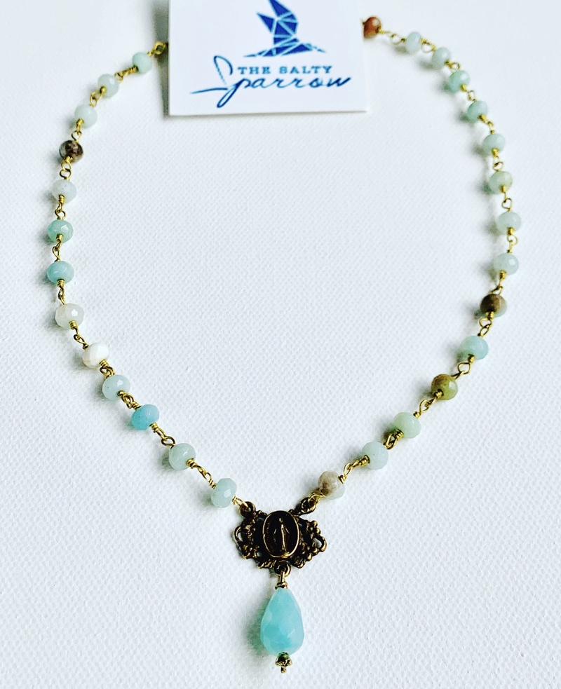 Mother Mary Amazonite Necklace
