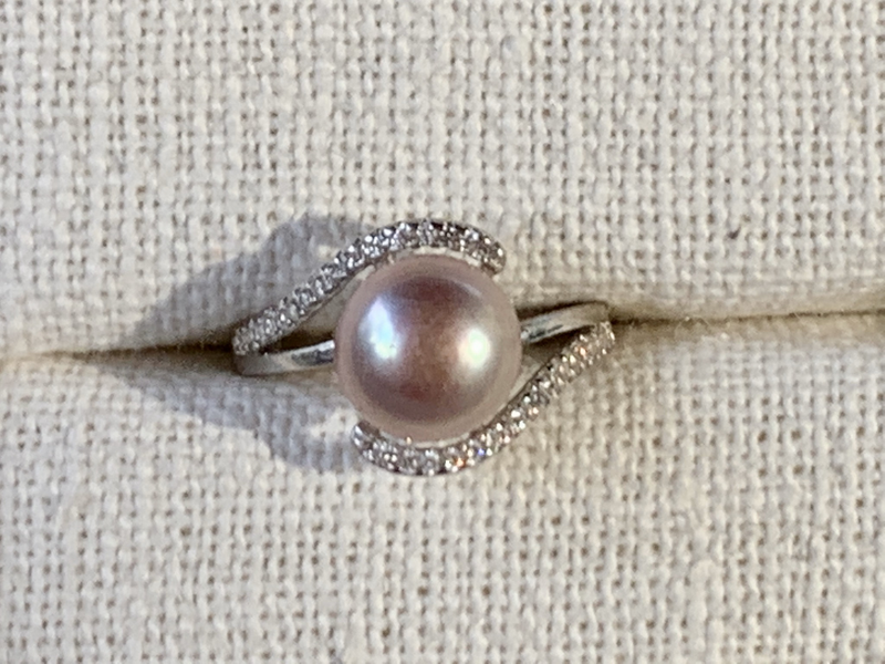 Blush Pearl Ring (Sterling Silver)