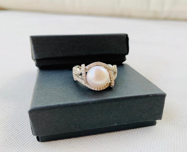 Sterling Silver/freshwater Pearl Ring