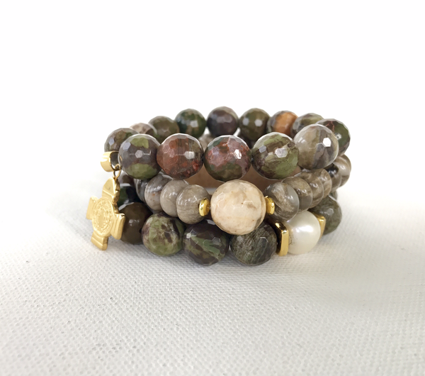 Water Oak Agate Stack
