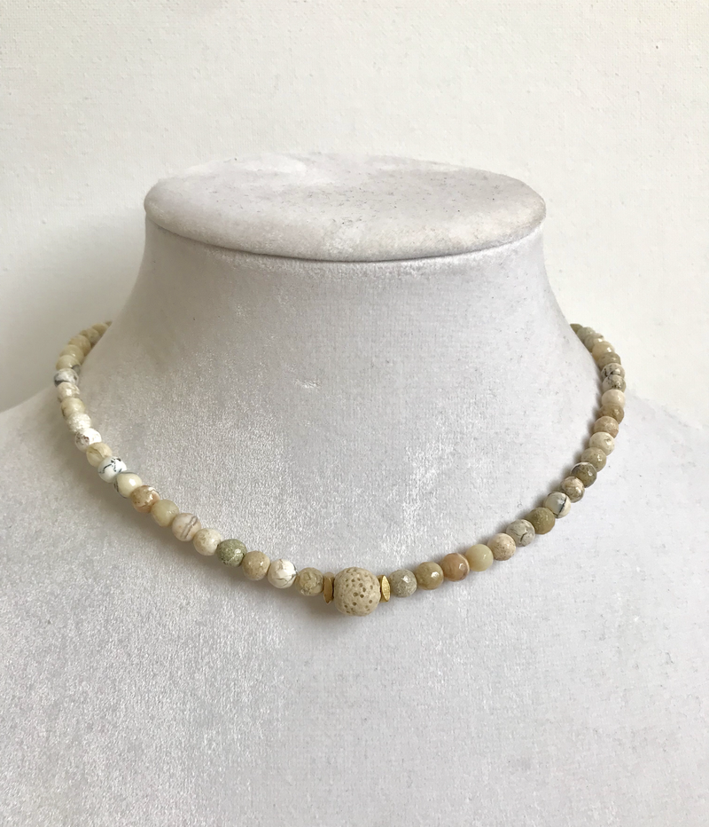 African Opal essential oil necklace