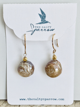 Blush pearl drop dangle earrings