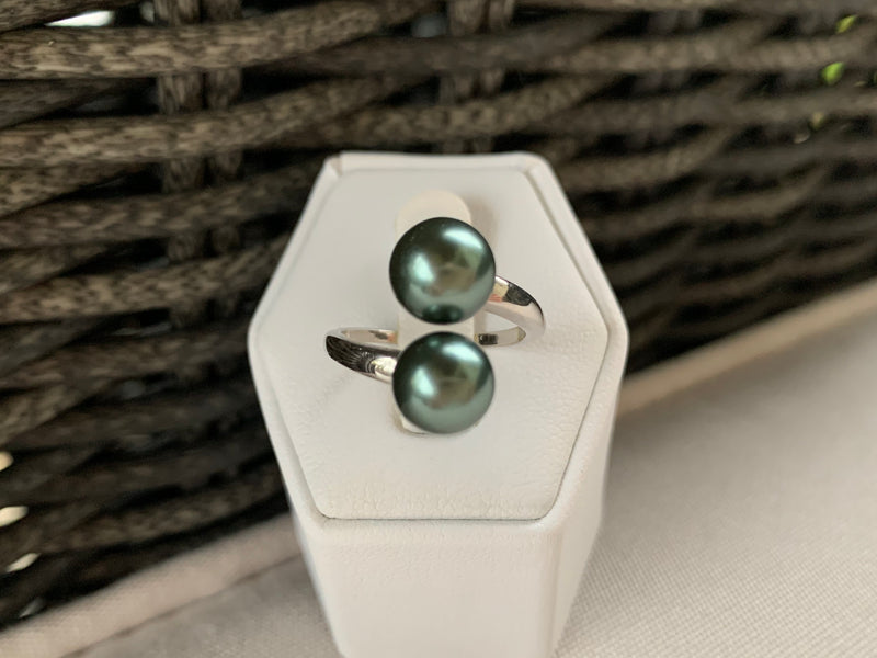 Extra Large Double Pearl Ring