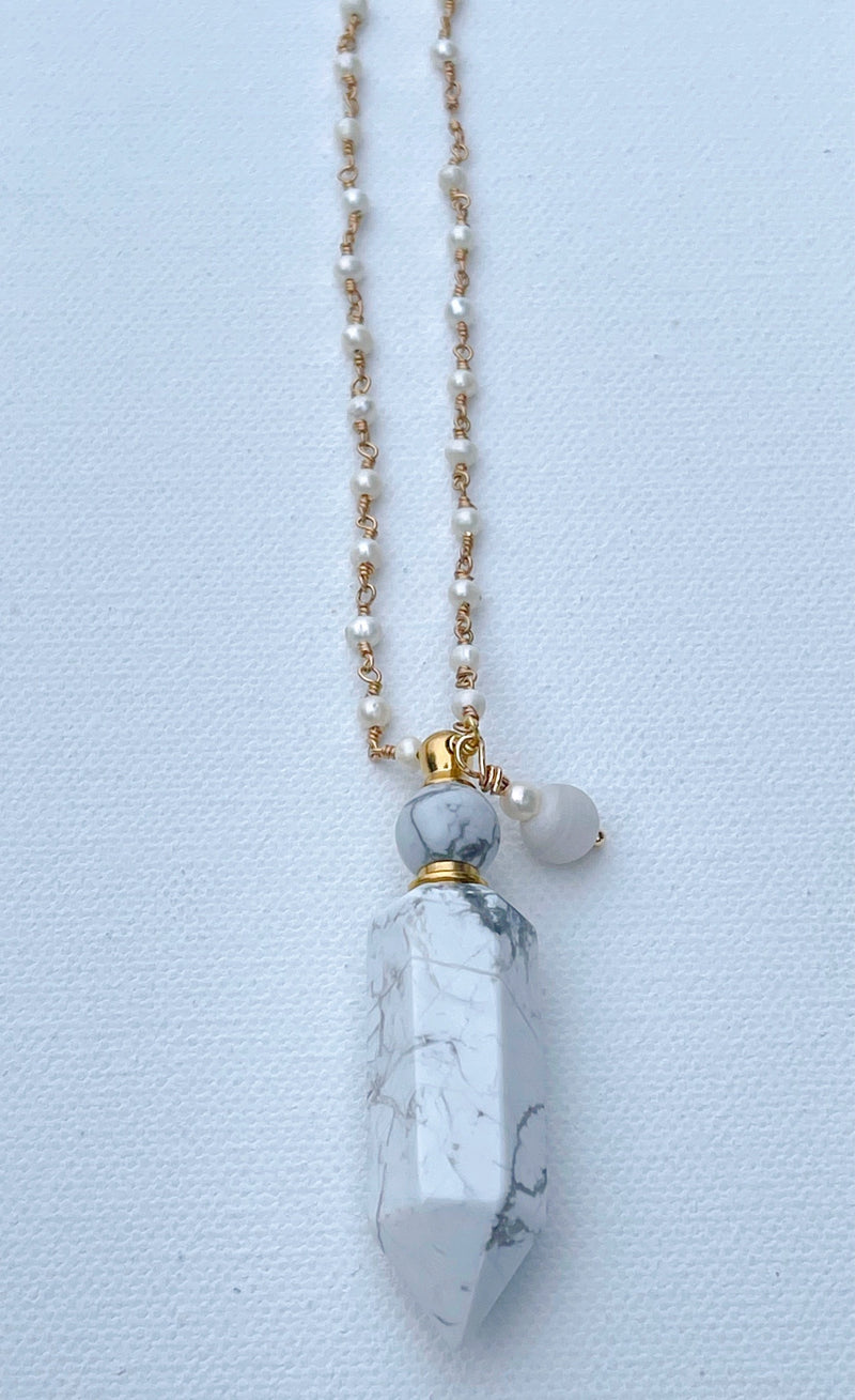 Essential Oil Gemstone Bottle Necklaces (You Choose)