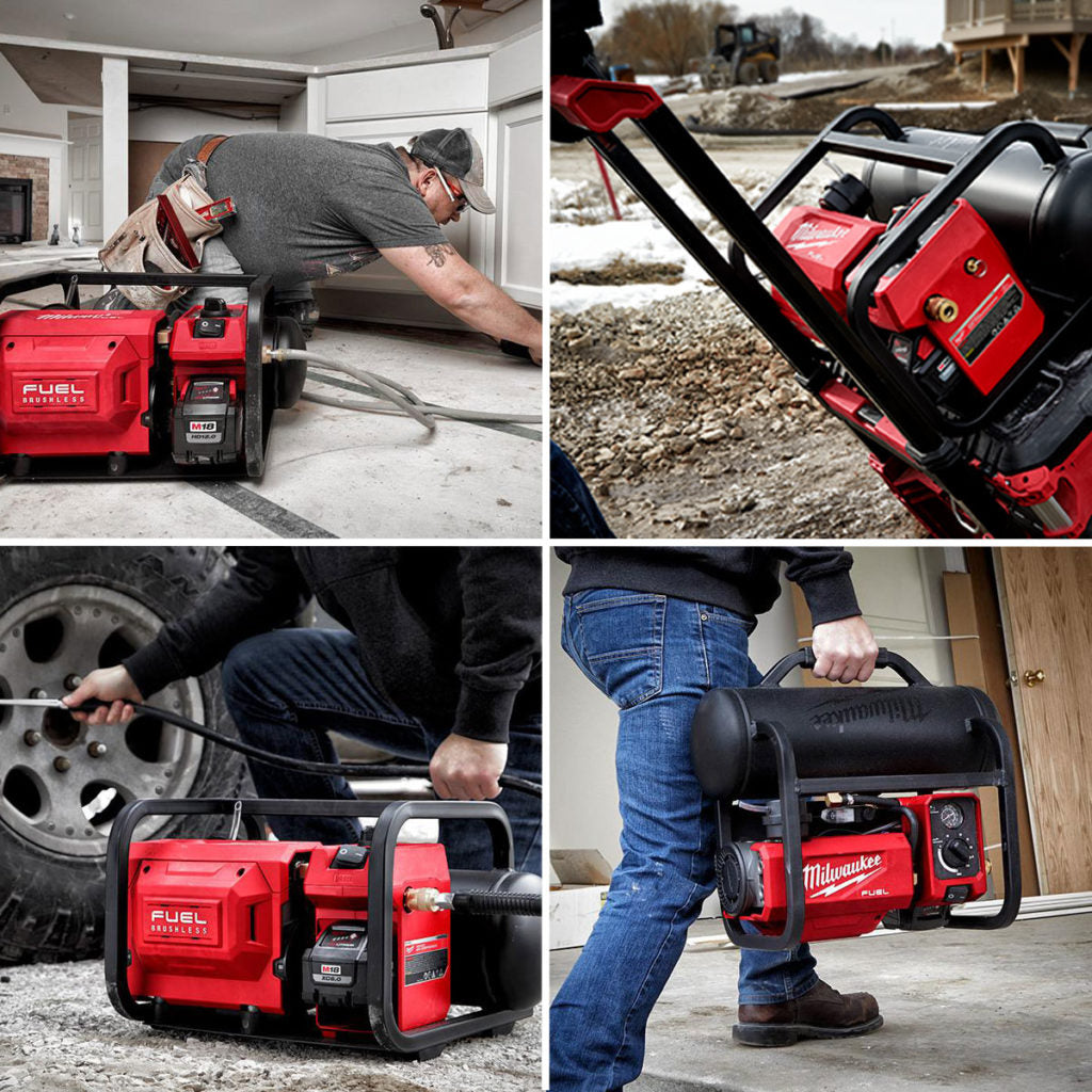 Milwaukee Launches Lean, Quiet, Cordless Compressor