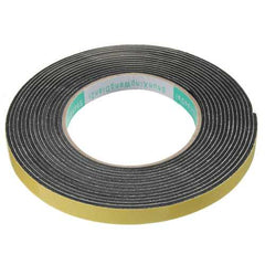 Safety Black Single Sided Adhesive Foam Cushion Tape Closed Cell ?5m x 2mm x 10mm