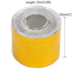 5cmx10m Heat Cool Reflective Tape 500 Degree Gold Heat Protection