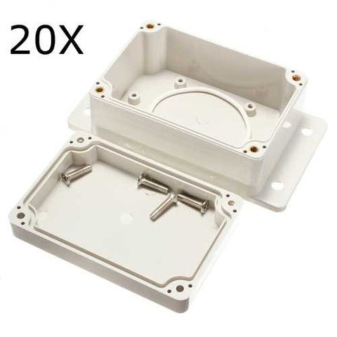 20Pcs 100x68x50mm White Plastic Enclosure Waterproof Electronic Case Project Box