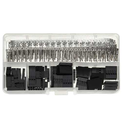 345 Pcs Wire Jumper Pin Header Connectors Housing Female Kit And M/F Crimp Pins