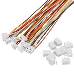 Excellway 10 Sets Mini Micro JST 1.5mm ZH 4-Pin Connector Plug With Wires Cables 150mm