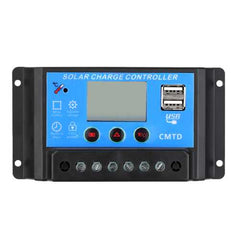 CMTD-2410 12V/24V 10A Solar Charge Controller PWM Output LCD Display Panel USB Charger