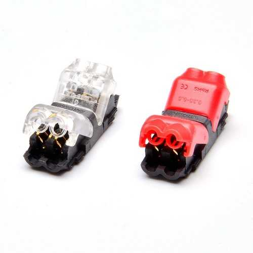 5Pcs 2 Pin Quick Splice Wire Terminals Crimp Connectors for 22-20AWG LED Strip Cable Crimping