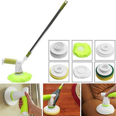 Automatic Electric Cleaning Brushes Rechargeable Cordless Power Scrubber with 3 Replaceable Brush Heads for Home Toilet Bathroom Tools