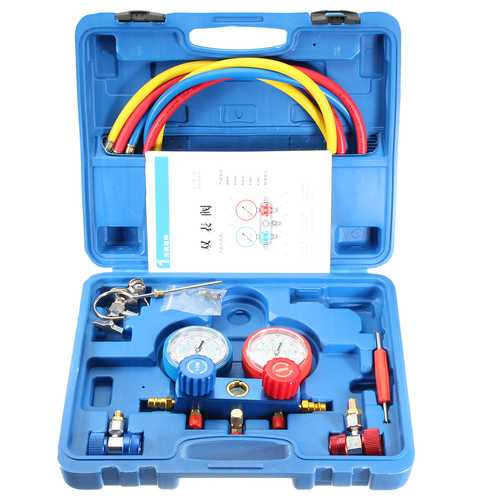 0-500PSI Air Conditioning Refrigerant Fluorine Table Gauge Diagnostic Test Tool - Handyman Official Shop