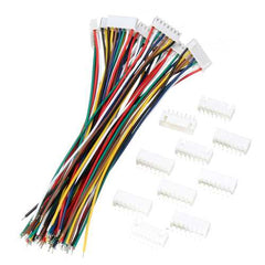 Excellway 10 Sets Mini Micro JST XH2.54mm 7 Pin Connector Plug Socket Wire Cable 150mm