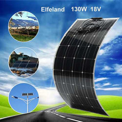 Elfeland EL-11 130W 18V Semi Flexible Solar Panel With Cable For Home RV Boat