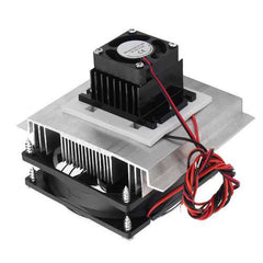 12V DIY Semiconductive Refrigeration Thermoelectric Cooler Case Brushless DC Fan