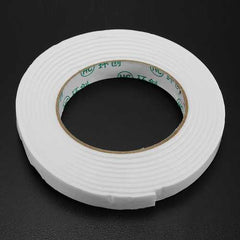 5Pcs 1.4cmx3m White PE Foam Double Sided Tape Strong Adhesive Sponge Mounting Tape