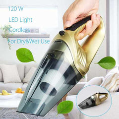 120W LED Compact Rechargeable Cordless Wet Dry Portable Home Vacuum Cleaner