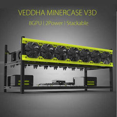 Open Air Mining Miner Frame Stackable Case For VEDDHA V3D 8 GPU ETH ZEC ZCash