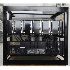 DIY Miner Mining Case Open Air Frame Mining Miner Rig Case W/ 3x Fans For 6 GPU ETH BTC Ethereum