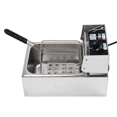 220V 2.5KW Electric Deep Fryer 6L Commercial Fry Frying Chip Cooker Basket