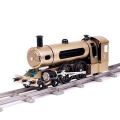 Teching Engine Steam Train Model With Pathway Full Aluminum Alloy Model Gift Collection STEM Toys