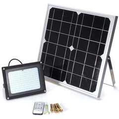 Solar Panel Powered 120 LED Security Motion Sensor Floodlight Waterproof Outdoor Garden Light+Remote